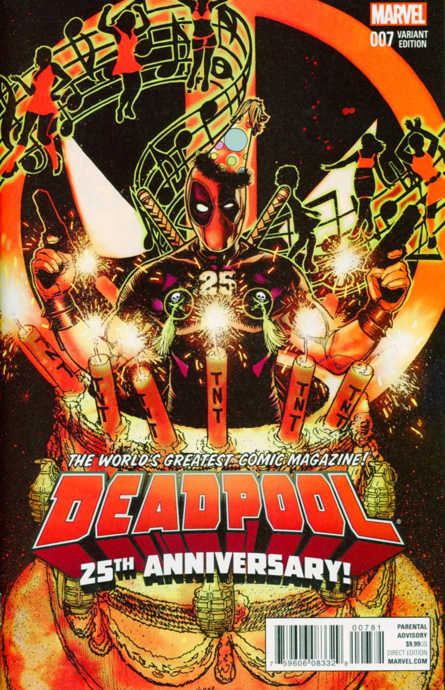 Deadpool Vol 5 #7 Cover F Variant Tony Harris Deadpool 25th Anniversary Cover