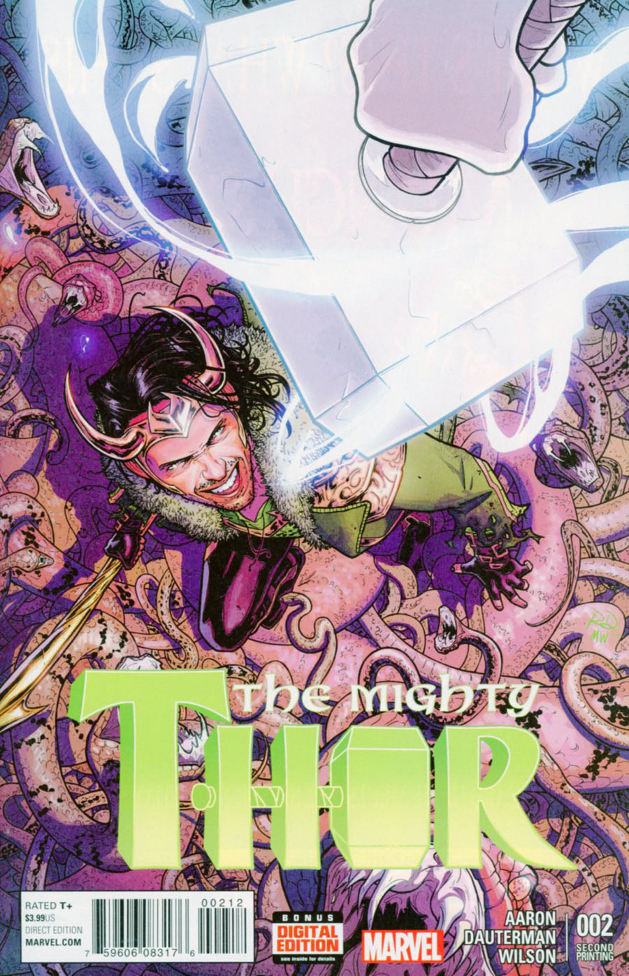 Mighty Thor Vol 2 #2 Cover F 2nd Ptg Russell Dauterman Variant Cover