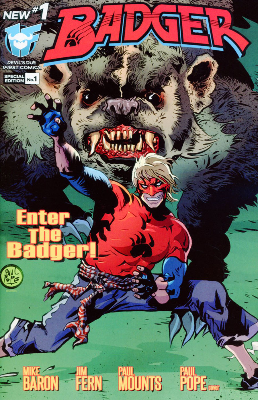 Badger Vol 4 #1 Cover B Incentive Paul Pope Variant Cover