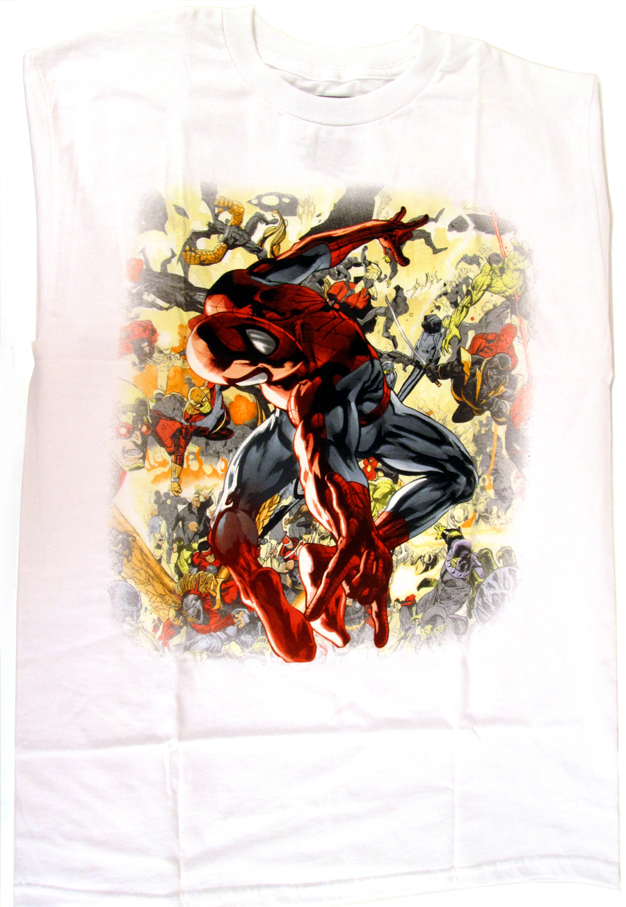 Spider-Man Twisted Torso White T-Shirt Large