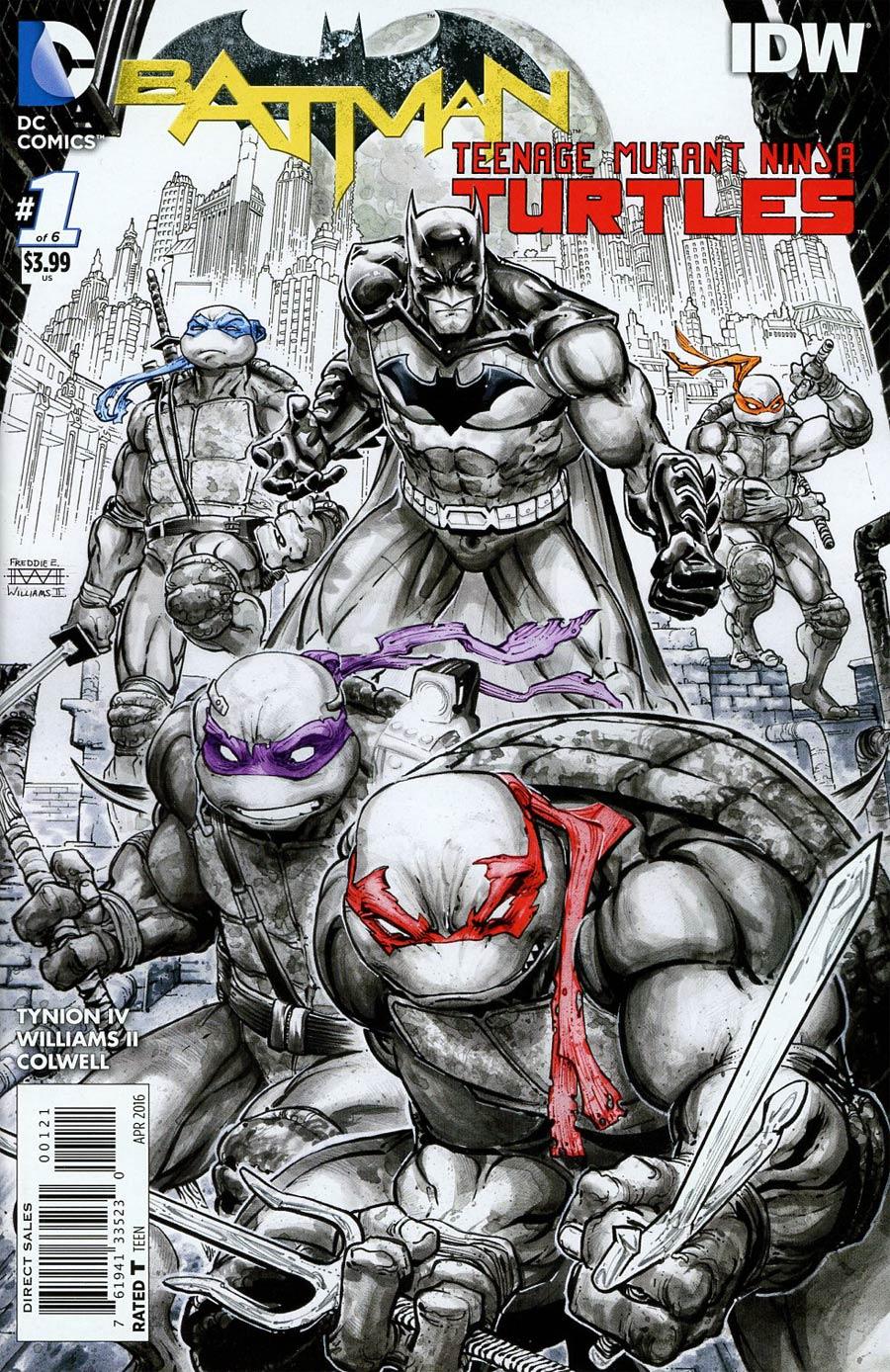 Batman Teenage Mutant Ninja Turtles #1 Cover M 2nd Ptg Freddie E Williams II Variant Cover
