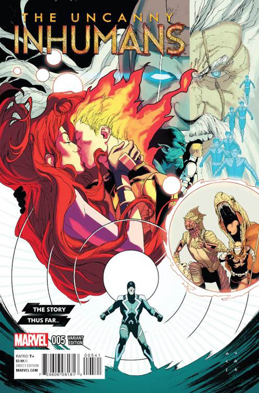 Uncanny Inhumans #5 Cover B Incentive Story Thus Far Variant Cover