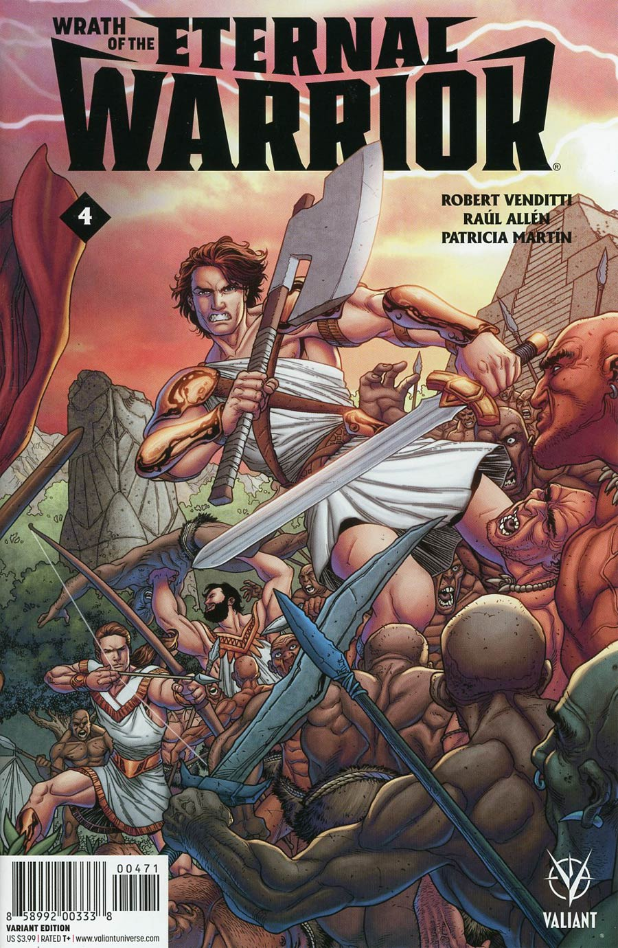 Wrath Of The Eternal Warrior #4 Cover G Midtown Comics Retailer Shared Exclusive Variant Cover