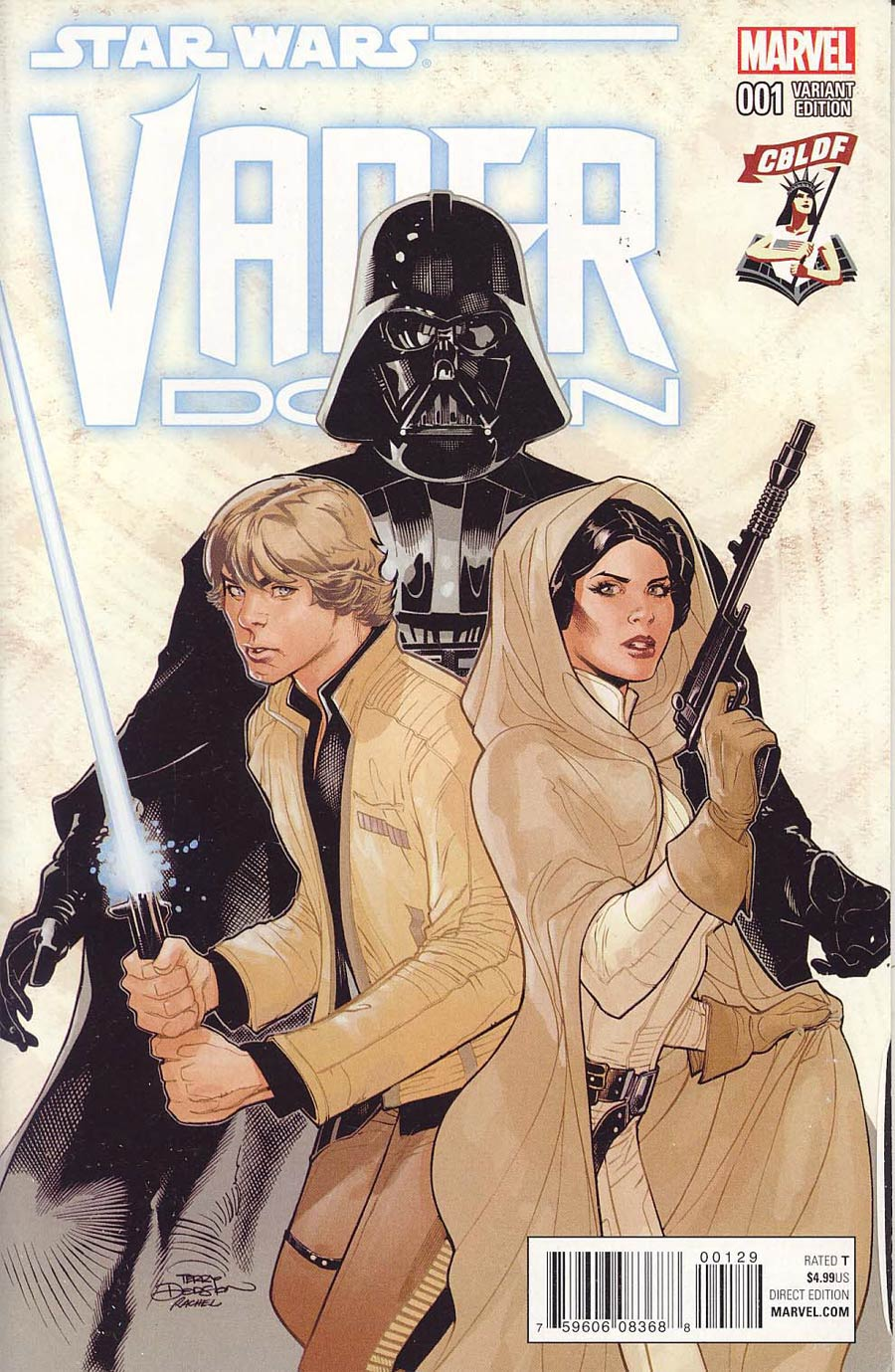 Star Wars Vader Down #1 Cover J CBLDF Variant Cover