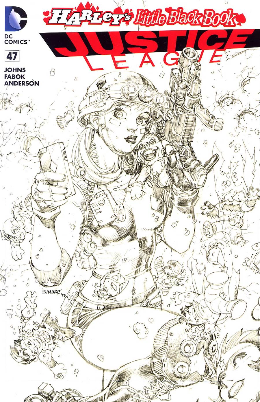 Justice League Vol 2 #47 Cover E Variant Jim Lee Harley Quinn Cover Without Polybag Sketch