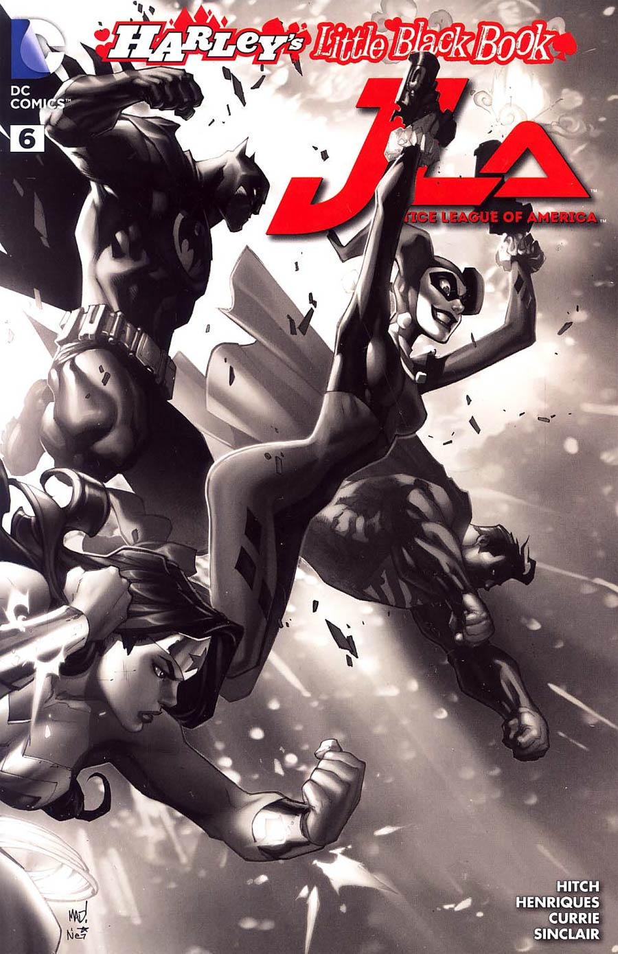 Justice League Of America Vol 4 #6 Cover D Variant Joe Madureira Harley Quinn Cover Without Polybag Black and White
