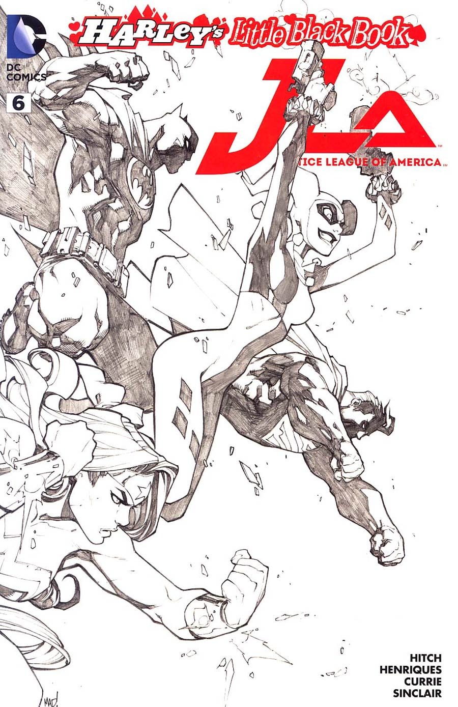 Justice League Of America Vol 4 #6 Cover E Variant Joe Madureira Harley Quinn Cover Without Polybag Sketch