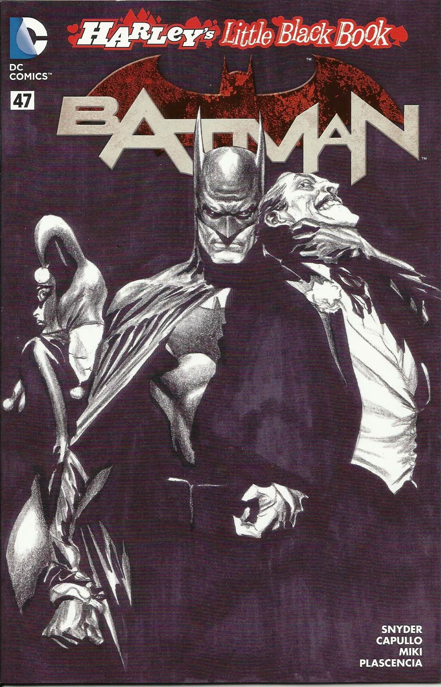 Batman Vol 2 #47 Cover D Variant Alex Ross Harley Quinn Cover Without Polybag Black and White