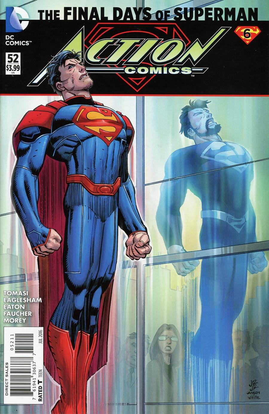 Action Comics Vol 2 #52 Cover A Regular John Romita Jr Cover (Super League Part 6)