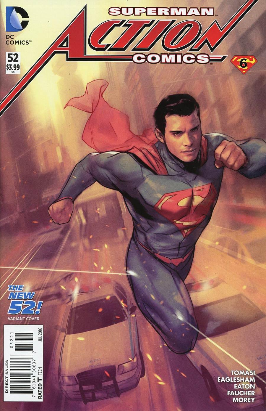Action Comics Vol 2 #52 Cover B Variant Ben Oliver New 52 Homage Cover (Super League Part 6)