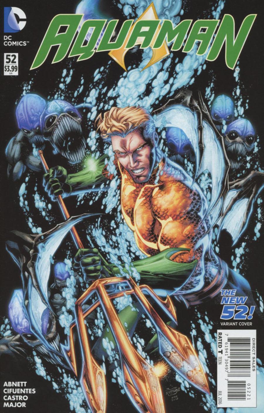 Aquaman Vol 5 #52 Cover B Variant Brett Booth New 52 Homage Cover