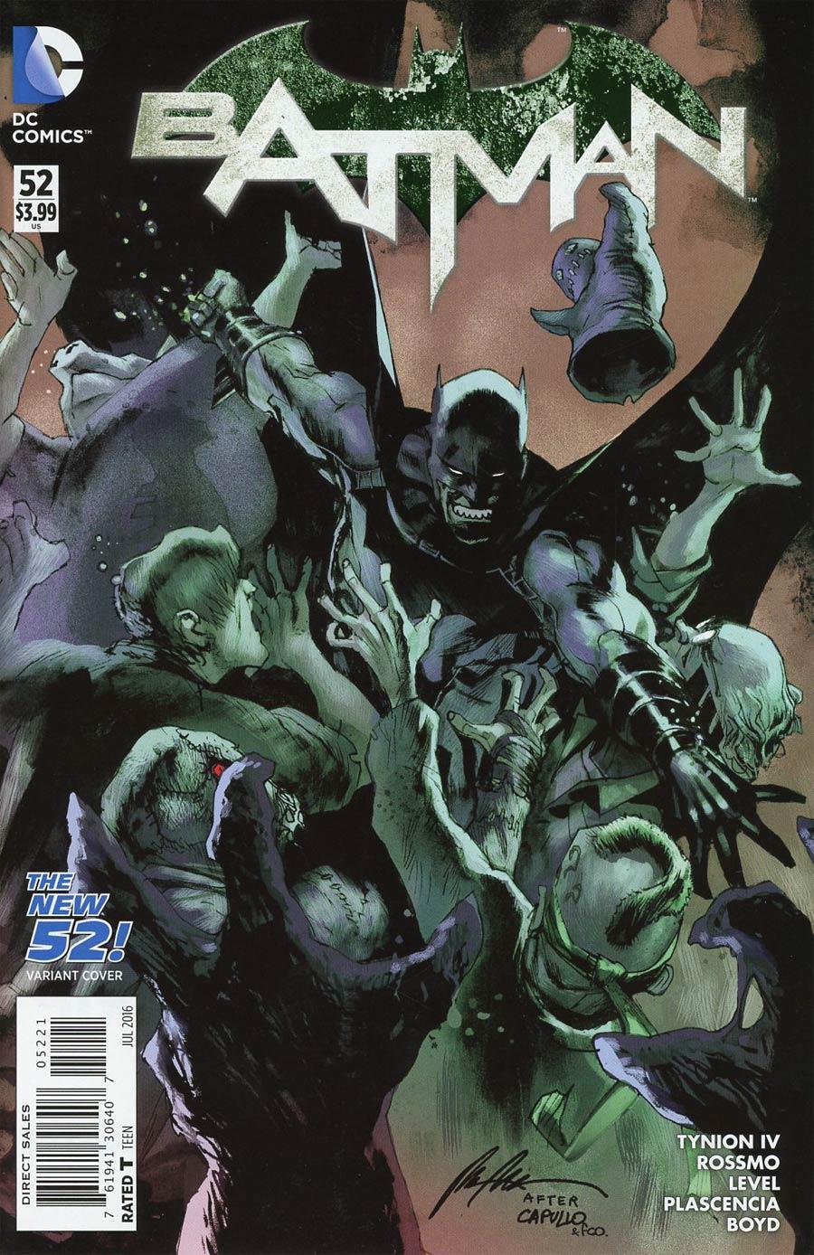 Batman Vol 2 #52 Cover B Variant Rafael Albuquerque New 52 Homage Cover