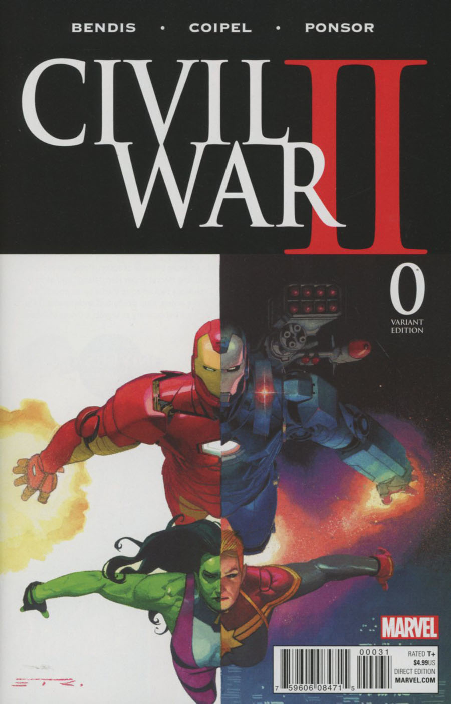 Civil War II #0 Cover C Variant Esad Ribic Cover (Road To Civil War II Tie-In)