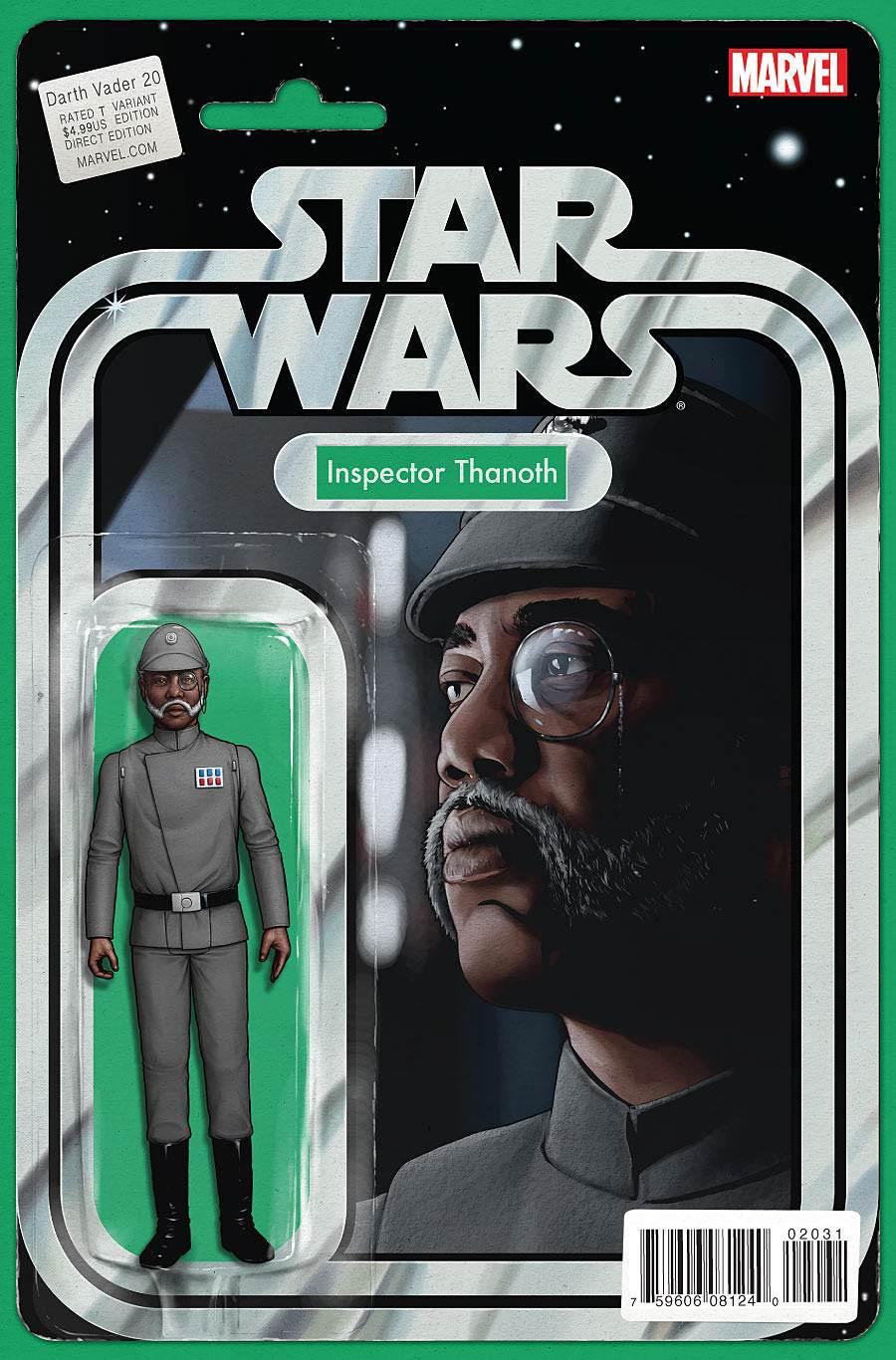 Darth Vader #20 Cover B Variant John Tyler Christopher Action Figure Cover