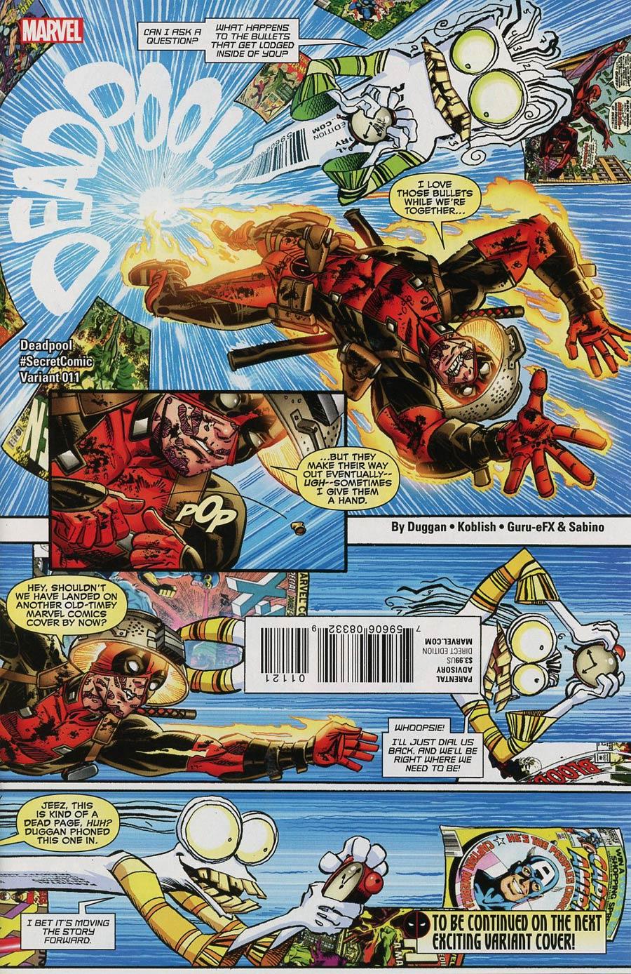 Deadpool Vol 5 #11 Cover B Variant Scott Koblish Secret Comic Cover