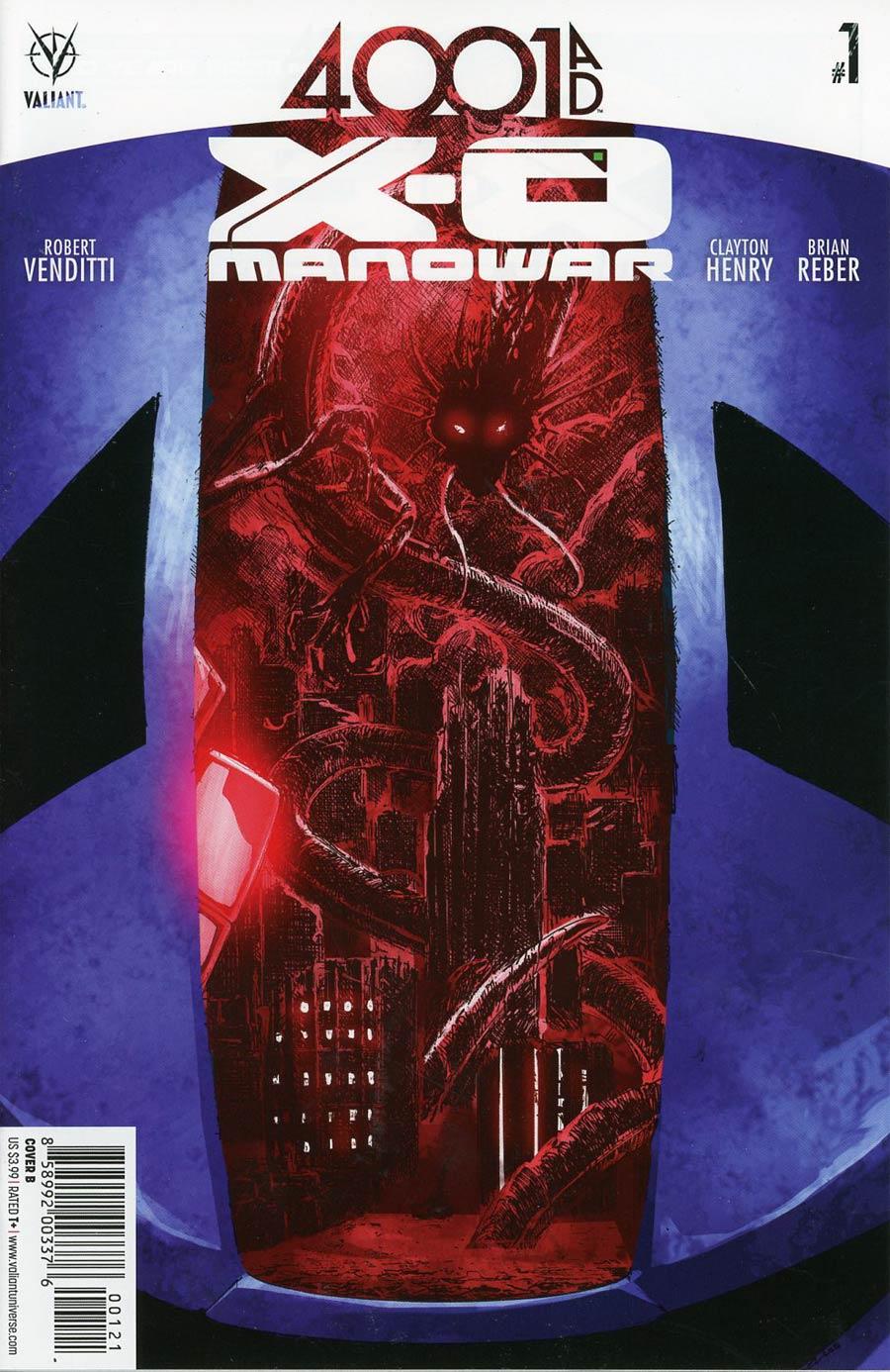 4001 AD X-O Manowar #1 Cover B Variant Phil Jimenez Cover