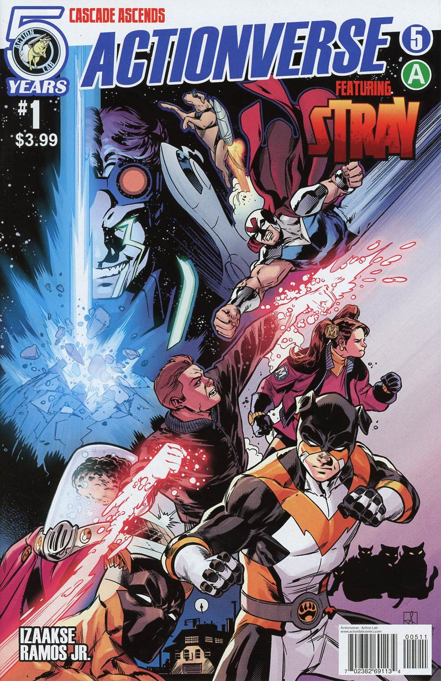 Actionverse #5 Featuring Stray Cover A Regular Sean Izaaakse & Mat Lopes Cover