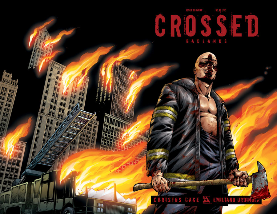 Crossed Badlands #98 Cover C Wraparound Cover