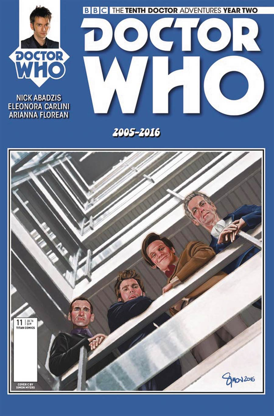 Doctor Who 10th Doctor Year Two #11 Cover C Variant Eleonora Carlini Cover