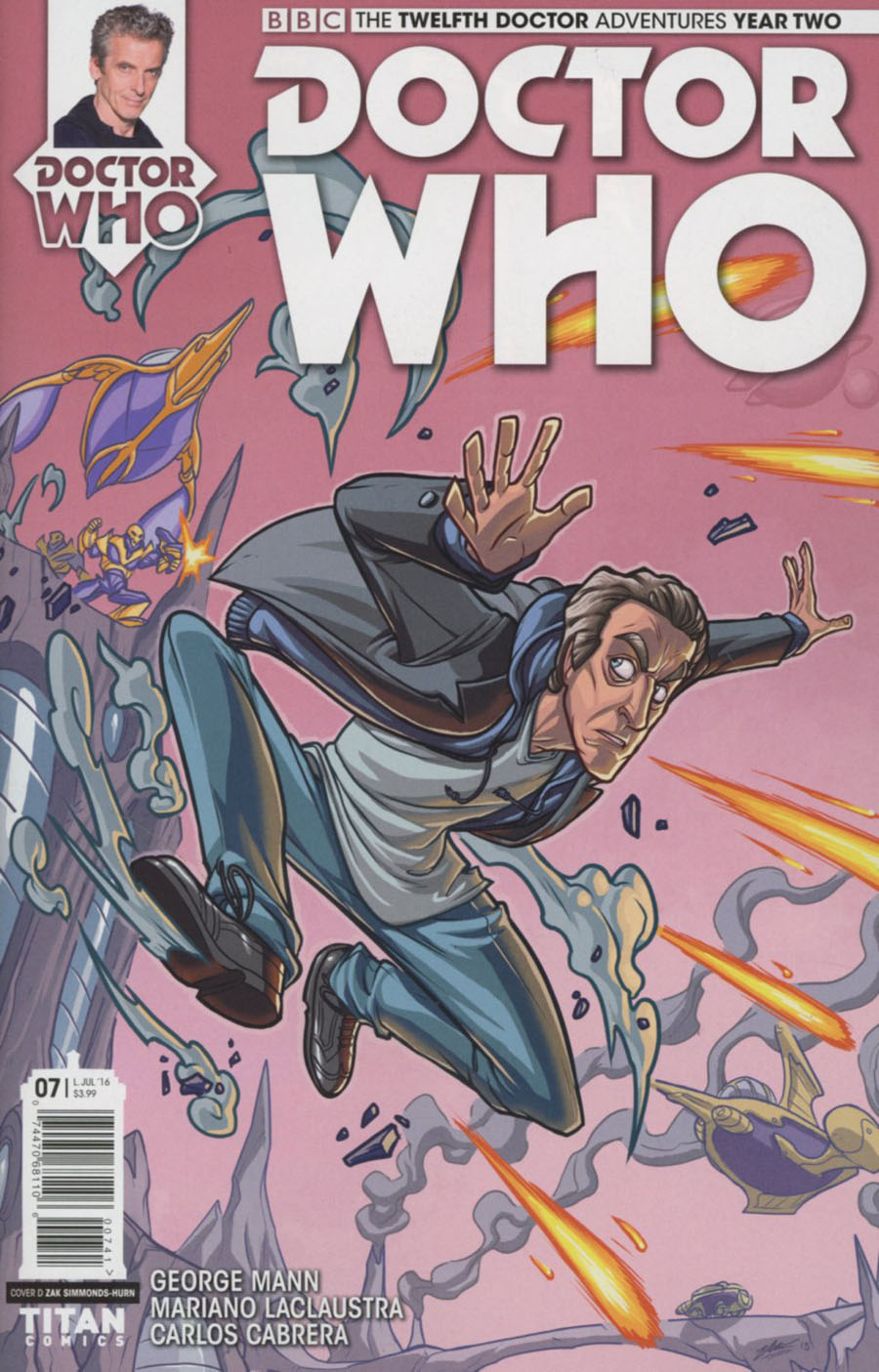 Doctor Who 12th Doctor Year Two #7 Cover D Variant Zak Simmonds-Hurn Cover