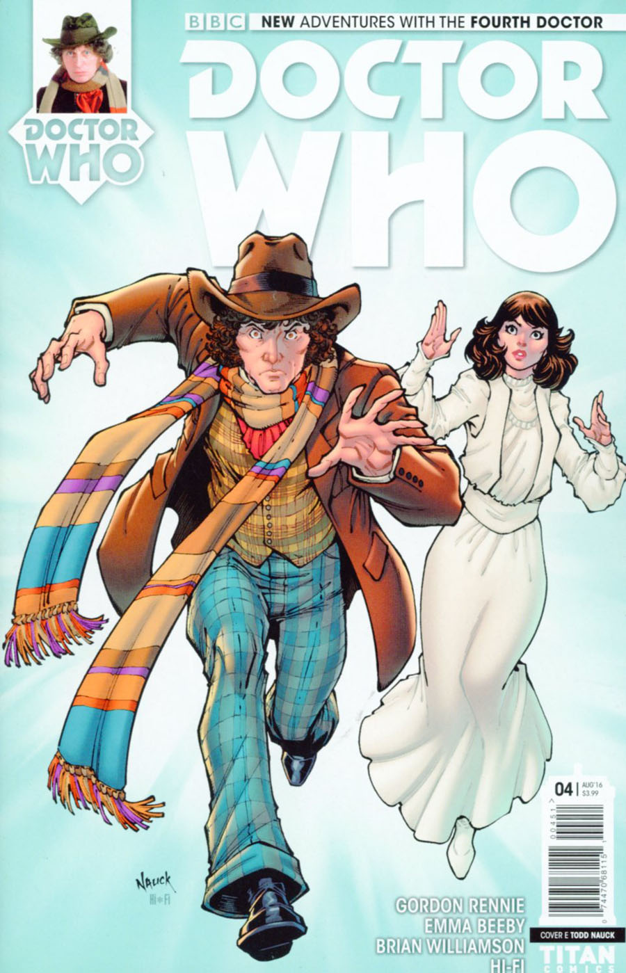 Doctor Who 4th Doctor #4 Cover E Variant Todd Nauck Cover