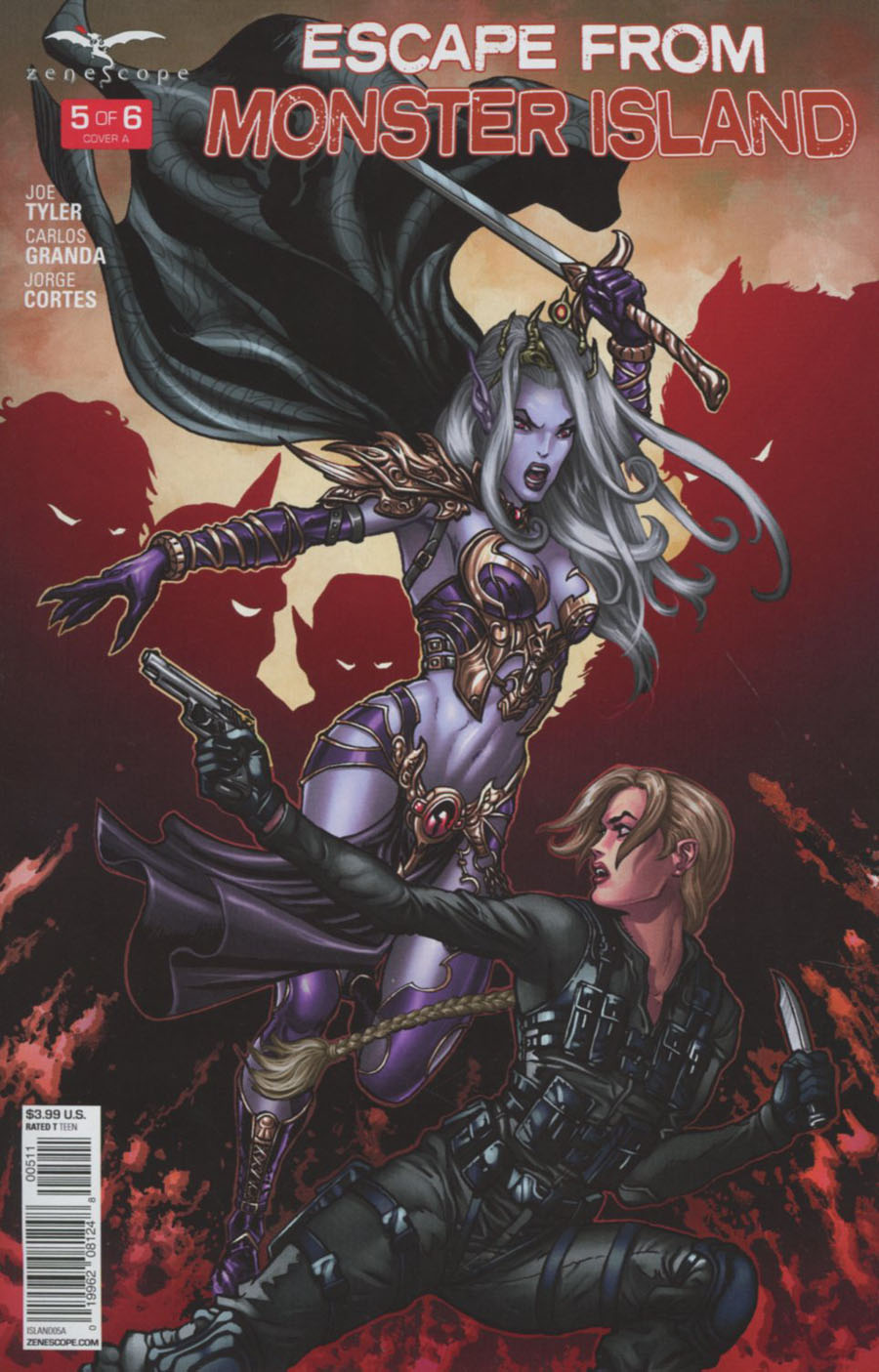 Grimm Fairy Tales Presents Escape From Monster Island #5 Cover A Sami Kivela