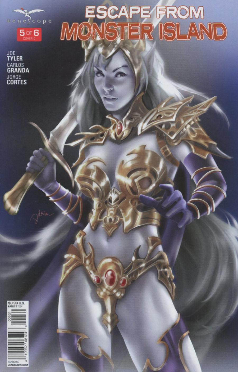 Grimm Fairy Tales Presents Escape From Monster Island #5 Cover C Cris Delara