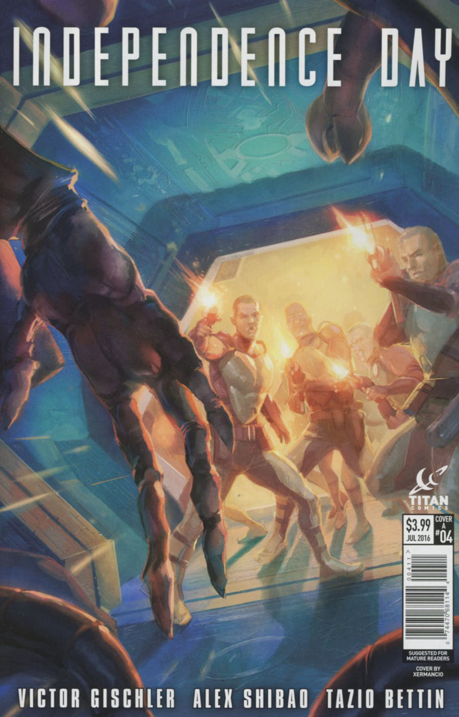 Independence Day #4 Cover A Regular Xermancio Cover