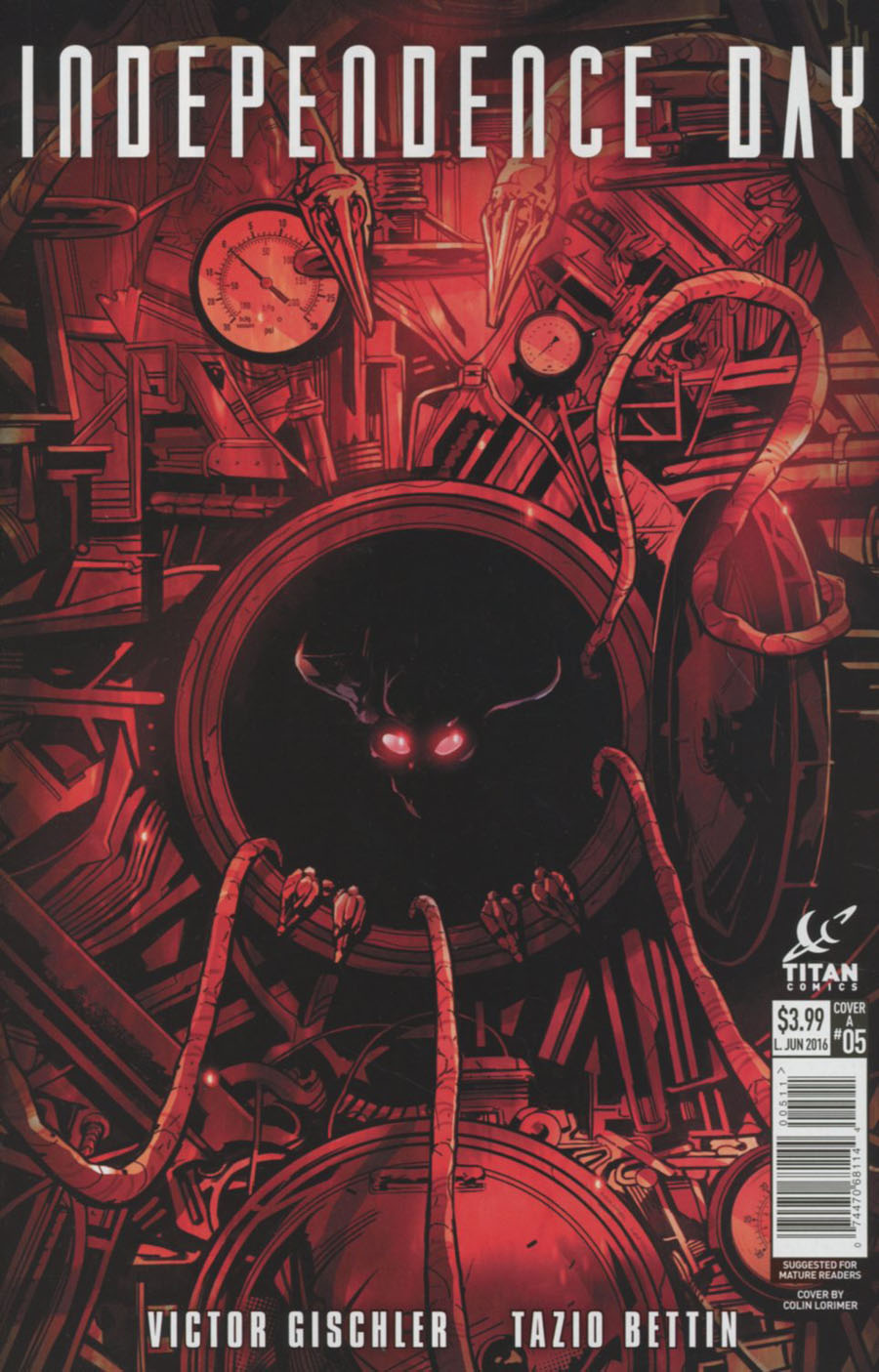 Independence Day #5 Cover A Regular Colin Lorimer Cover