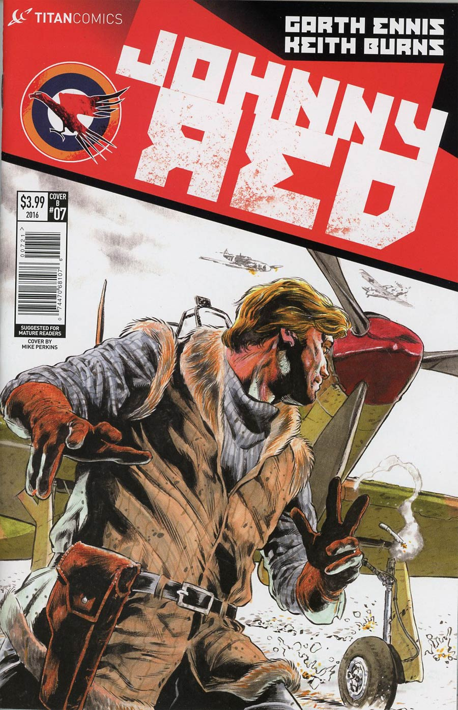 Johnny Red #7 Cover B Variant Mike Perkins Cover