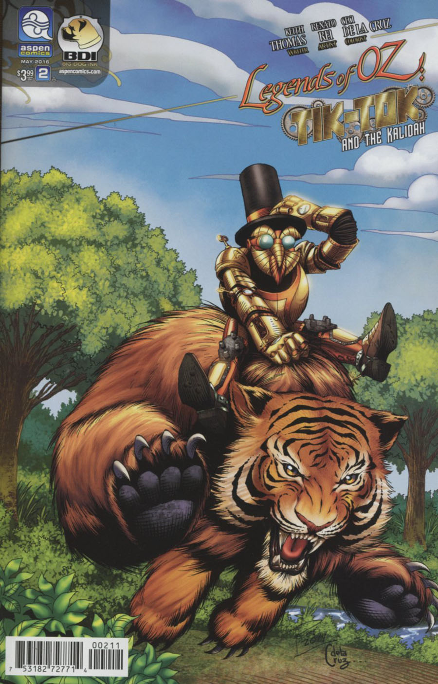 Legends Of Oz Tik-Tok And The Kalidah #2 Cover A Regular Renato Rei Cover