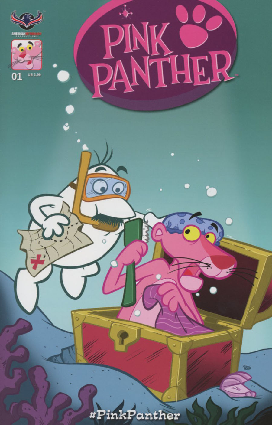 Pink Panther Vol 3 #1 Cover C Variant Classic Pink Hijinks Cover