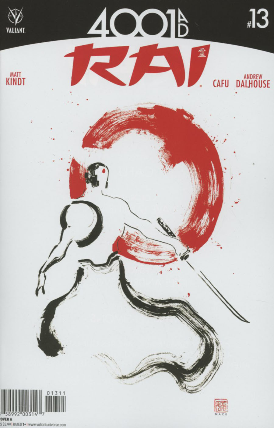 Rai Vol 2 #13 Cover A Regular David Mack Cover (4001 AD Tie-In)