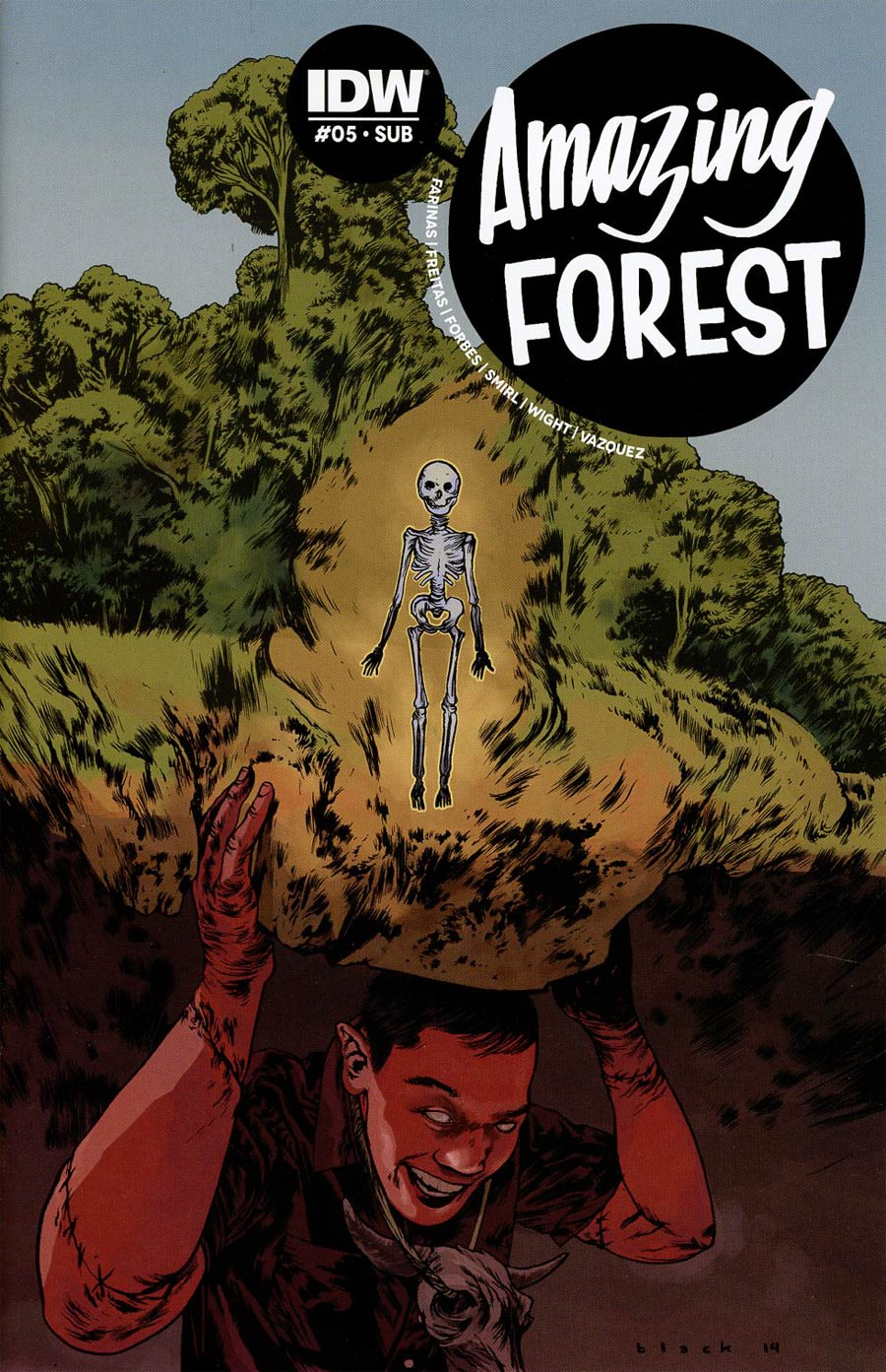 Amazing Forest #5 Cover B Variant Steven Russell Black Subscription Cover