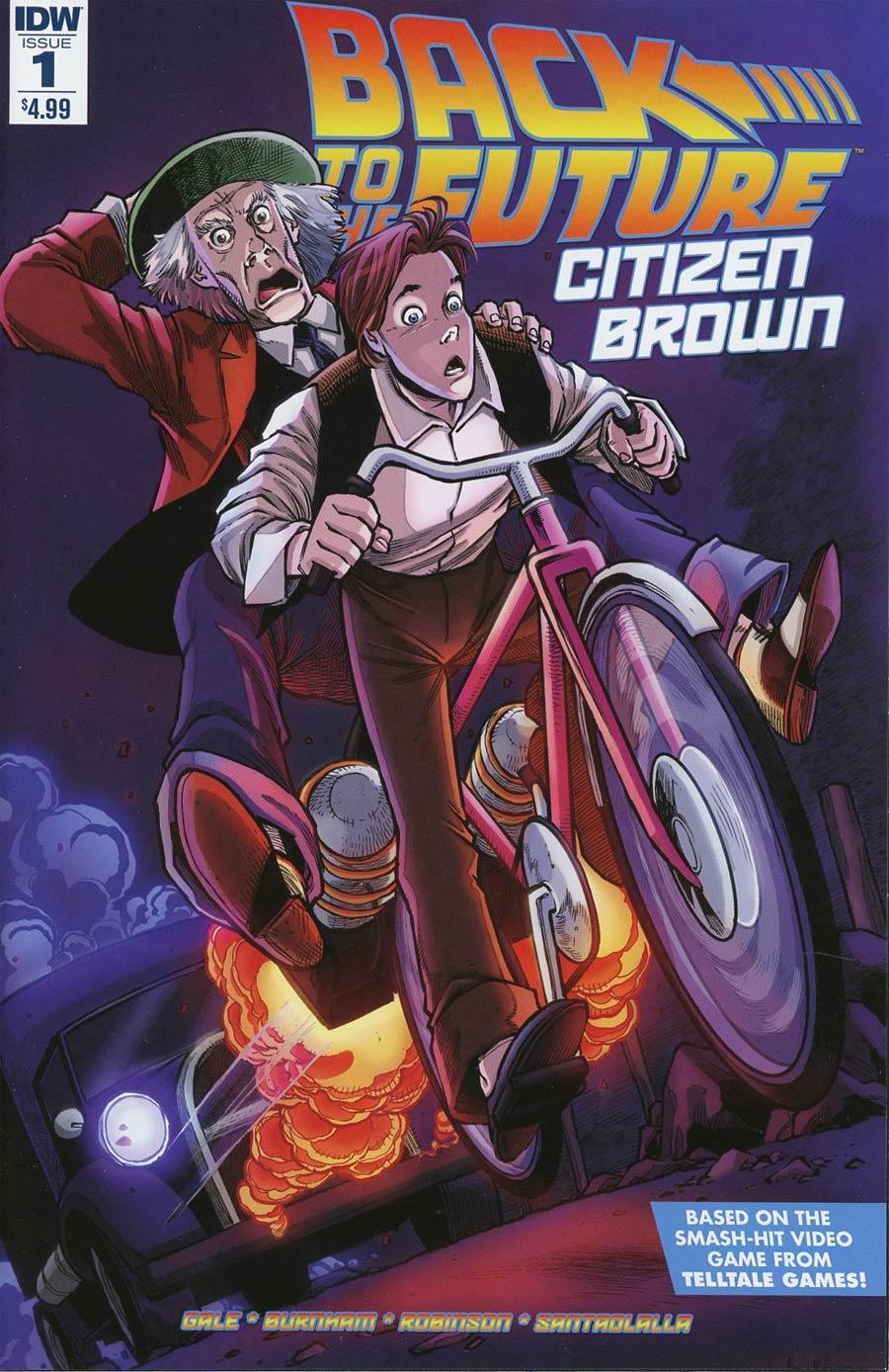 Back To The Future Citizen Brown #1 Cover A Regular Alan Robinson Cover