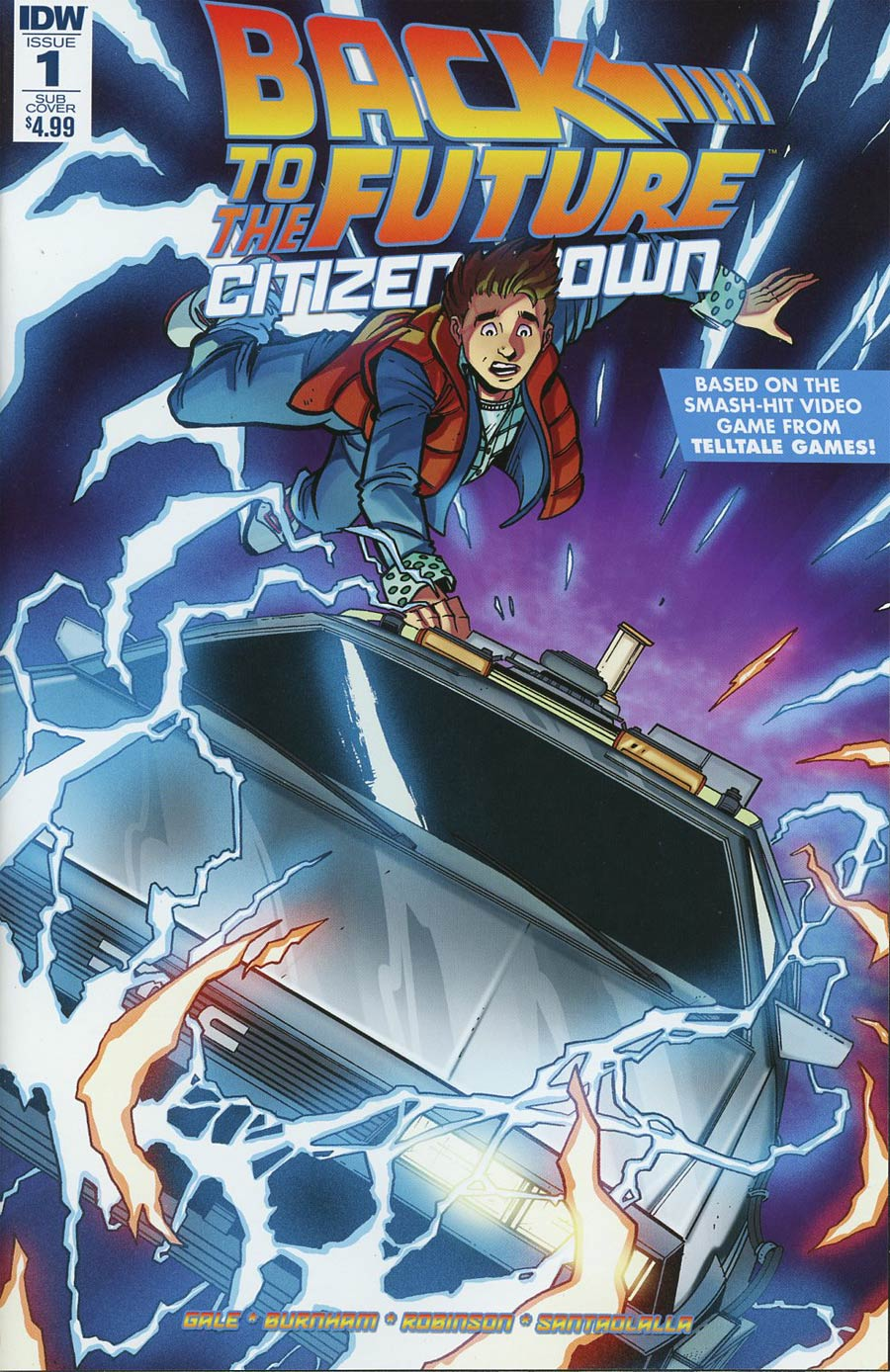 Back To The Future Citizen Brown #1 Cover B Variant Anthony Marques Subscription Cover
