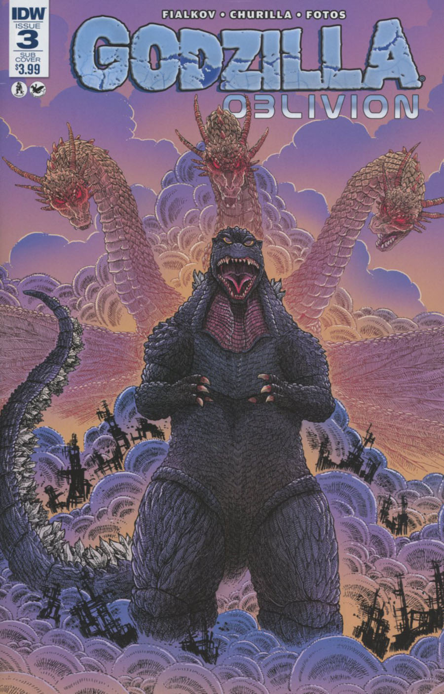 Godzilla Oblivion #3 Cover B Variant James Stokoe Subscription Cover