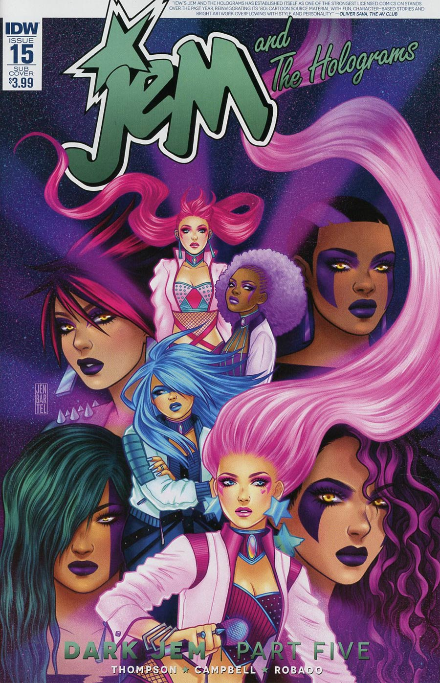 Jem And The Holograms #15 Cover B Variant Jen Bartel Subscription Cover