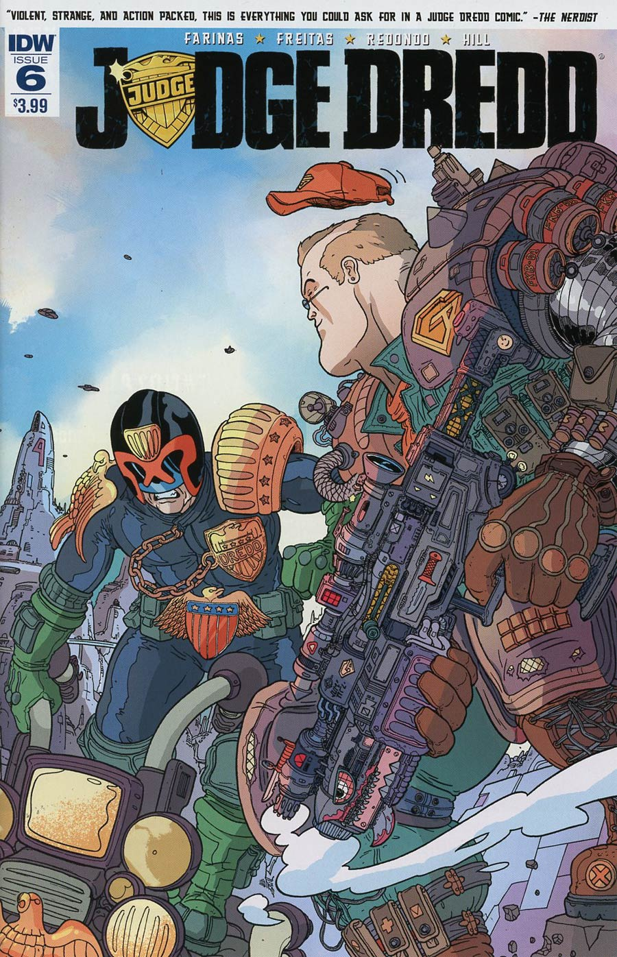 Judge Dredd Vol 5 #6 Cover A Regular Ulises Farinas Cover