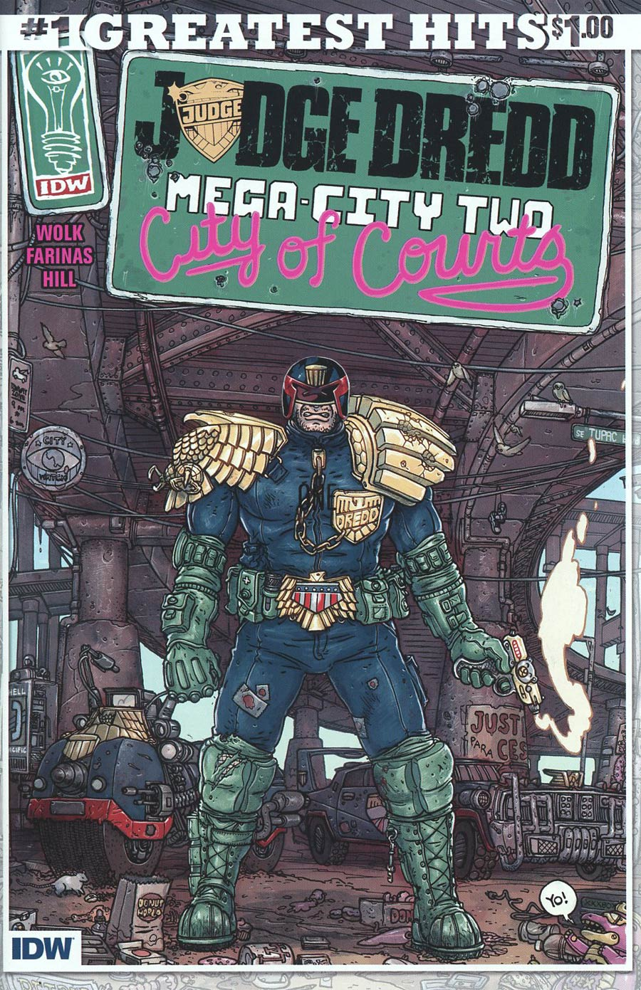 Judge Dredd Mega-City Two #1 Cover E IDWs Greatest Hits Edition