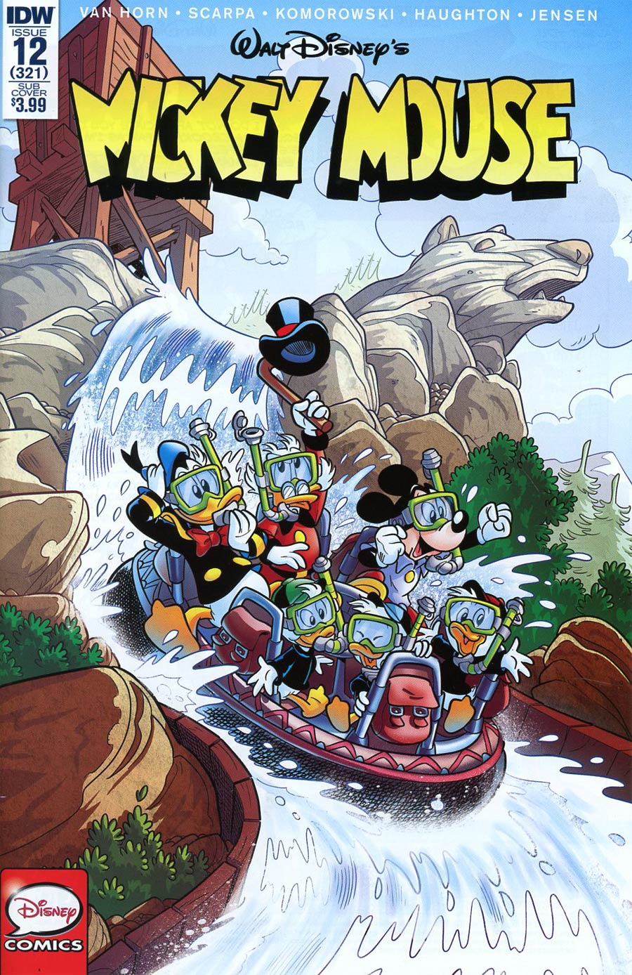 Mickey Mouse Vol 2 #12 Cover B Variant Lucas Usai Subscription Cover