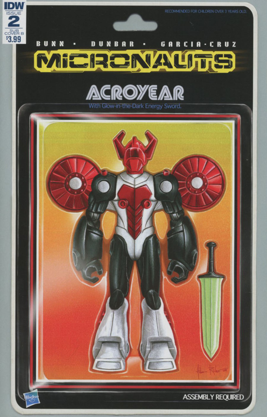 Micronauts Vol 5 #2 Cover C Variant Adam Riches Action Figure Subscription Cover