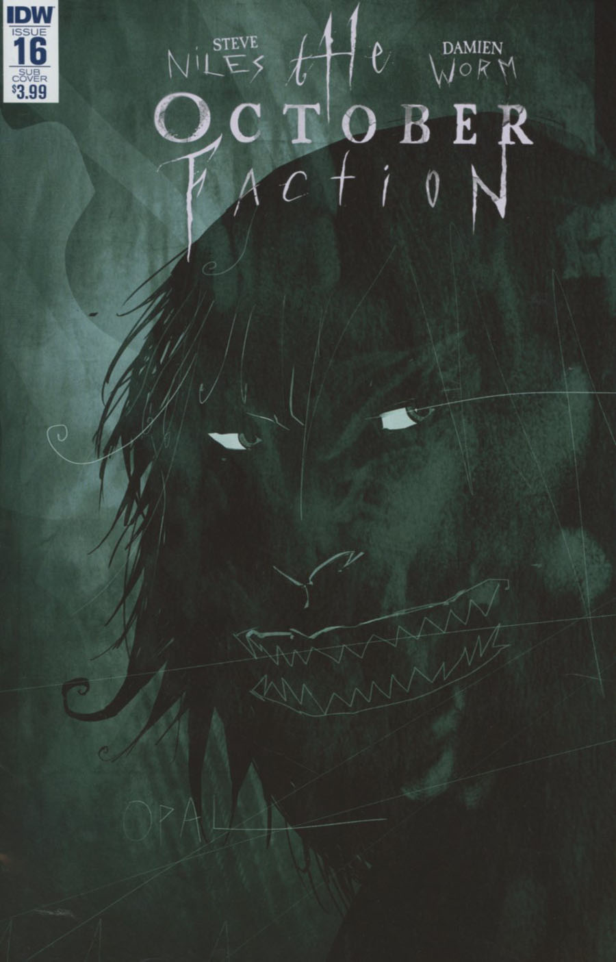 October Faction #16 Cover B Variant Damien Worm Subscription Cover