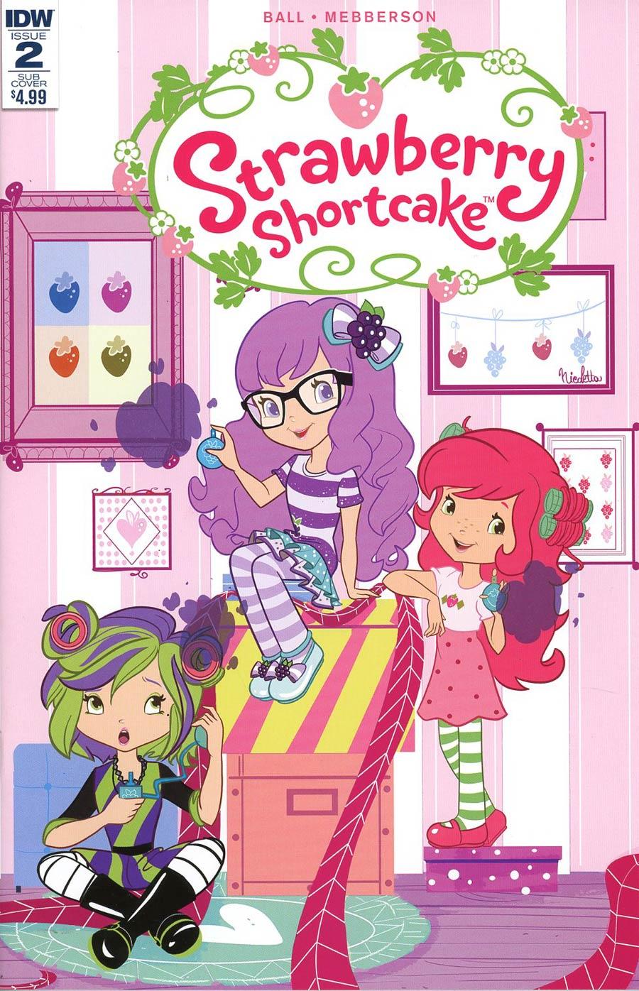 Strawberry Shortcake Vol 3 #2 Cover C Variant Nicoletta Baldari Scented Cover