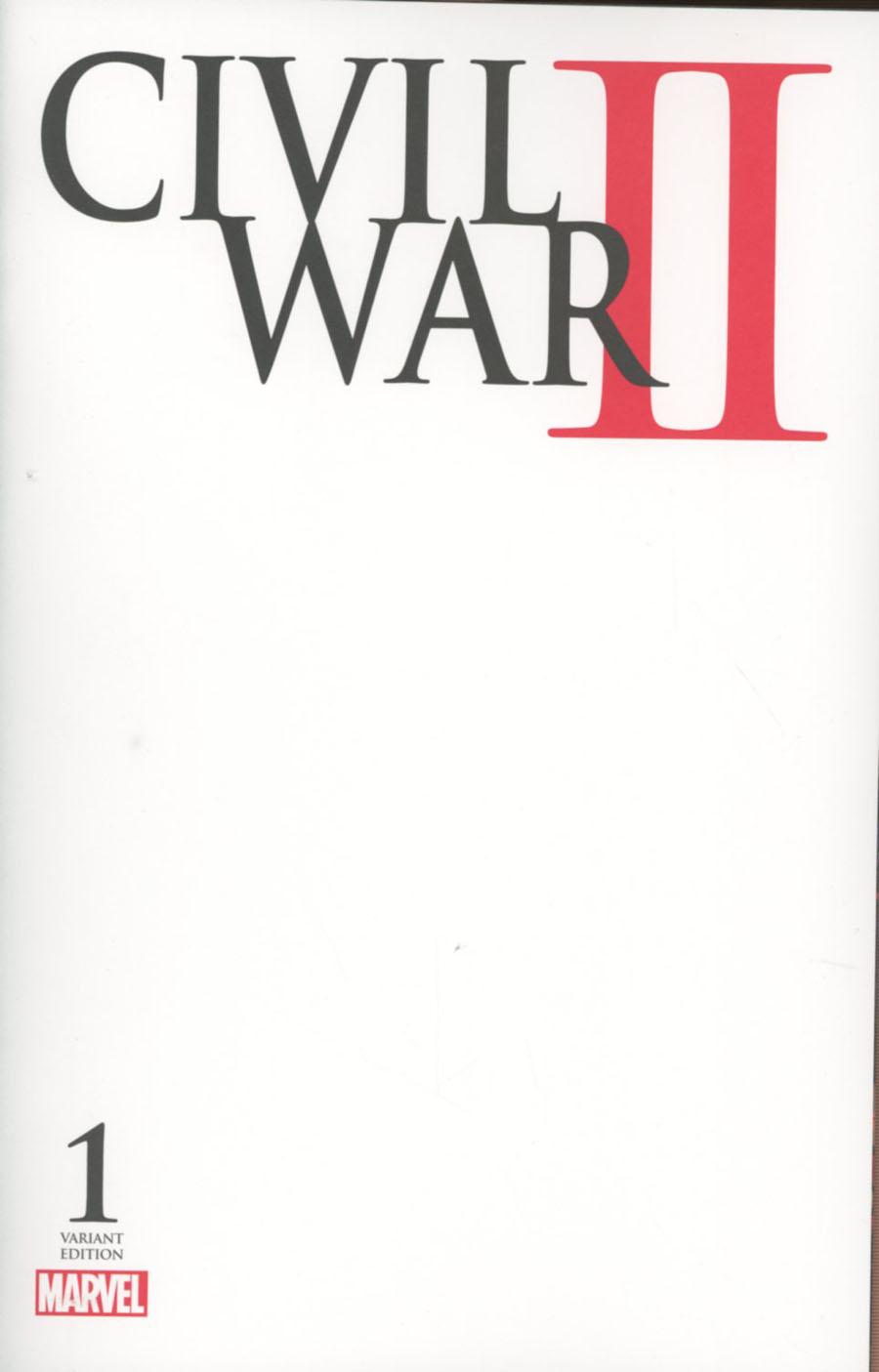 Civil War II #1 Cover I Variant Blank Cover