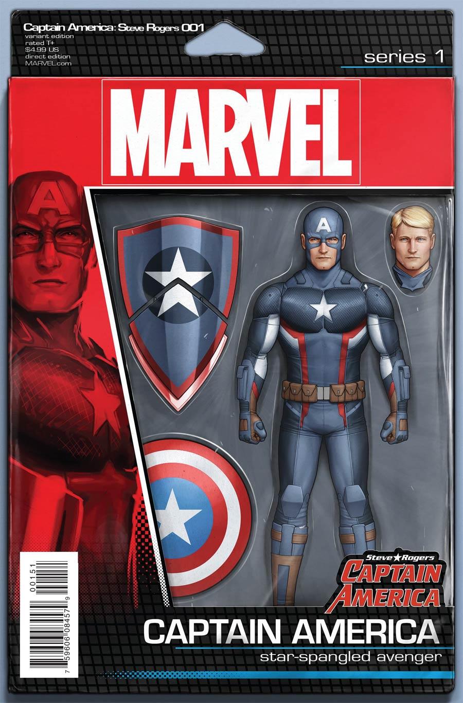 Captain America Steve Rogers #1 Cover D Variant John Tyler Christopher Action Figure Cover