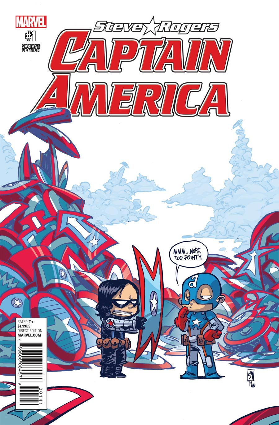 Captain America Steve Rogers #1 Cover C Variant Skottie Young Baby Cover