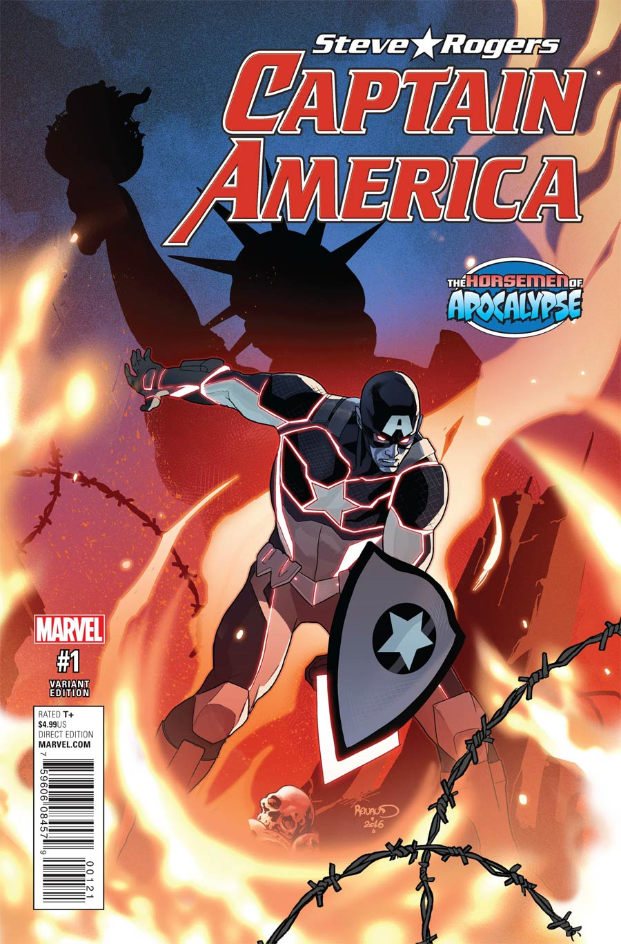 Captain America Steve Rogers #1 Cover B Variant Paul Renaud Age Of Apocalypse Cover