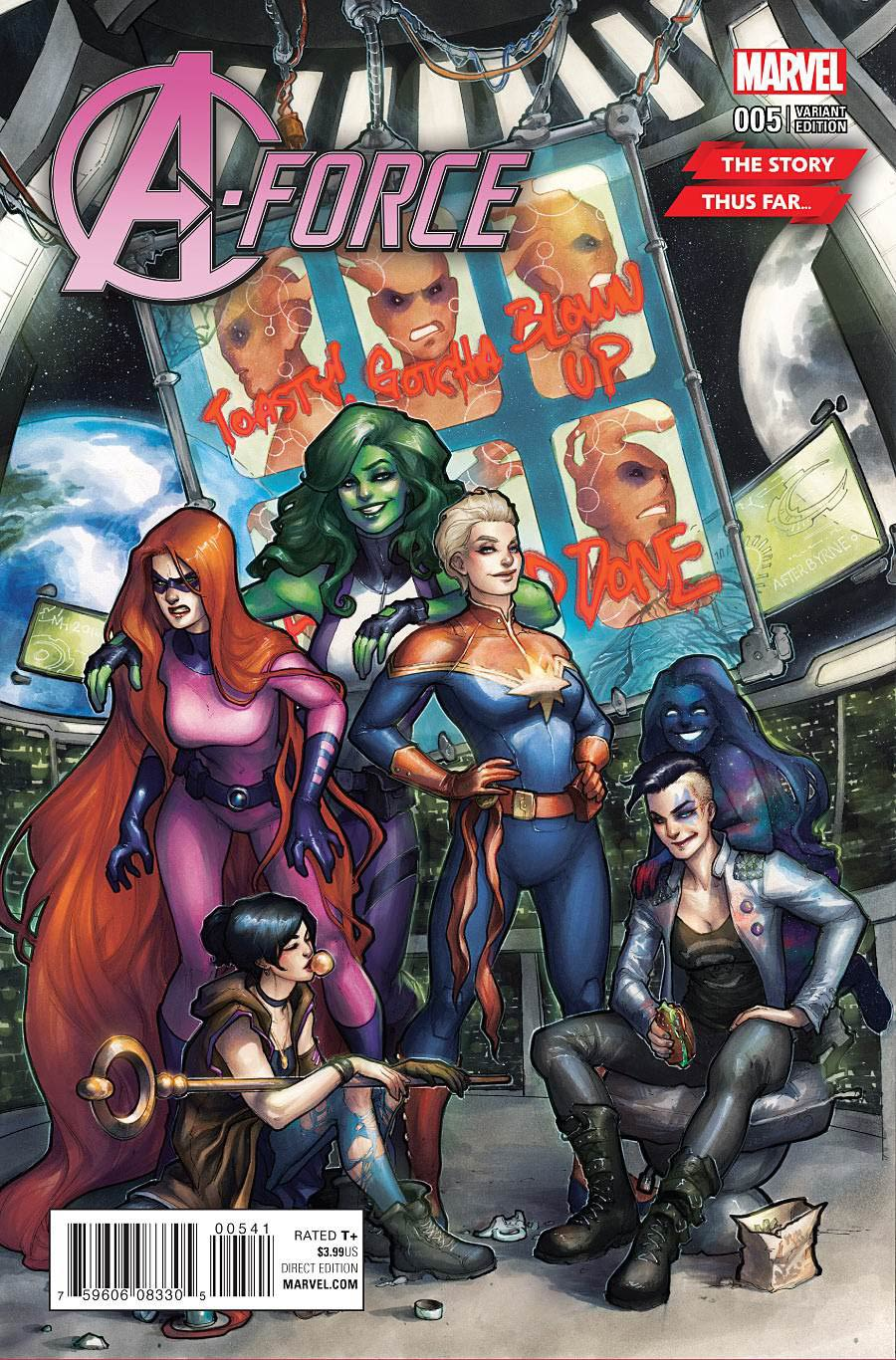 A-Force Vol 2 #5 Cover B Variant Meghan Hetrick Story Thus Far Cover