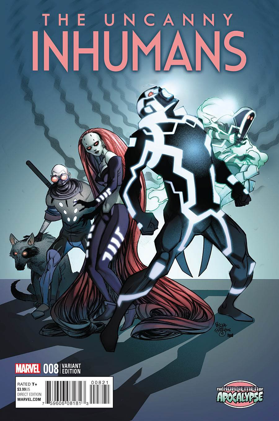 Uncanny Inhumans #8 Cover B Variant Age Of Apocalypse Cover
